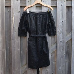 Tie Waist Off-Shoulder Dress Sz XS
